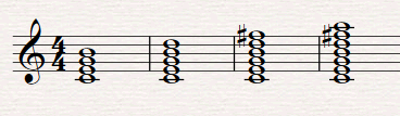 Acordes de más de tres notas