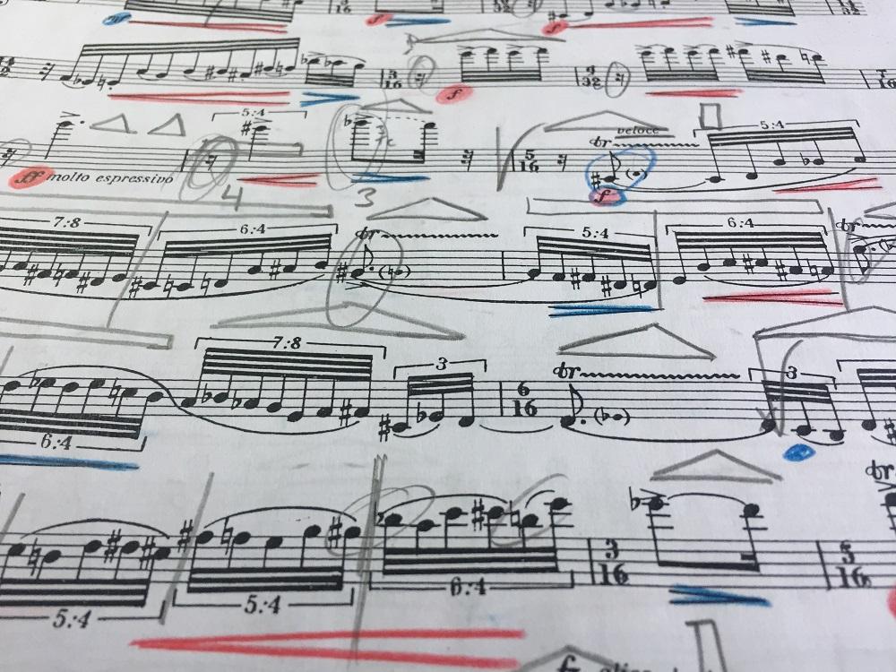 Cómo organizar la partitura