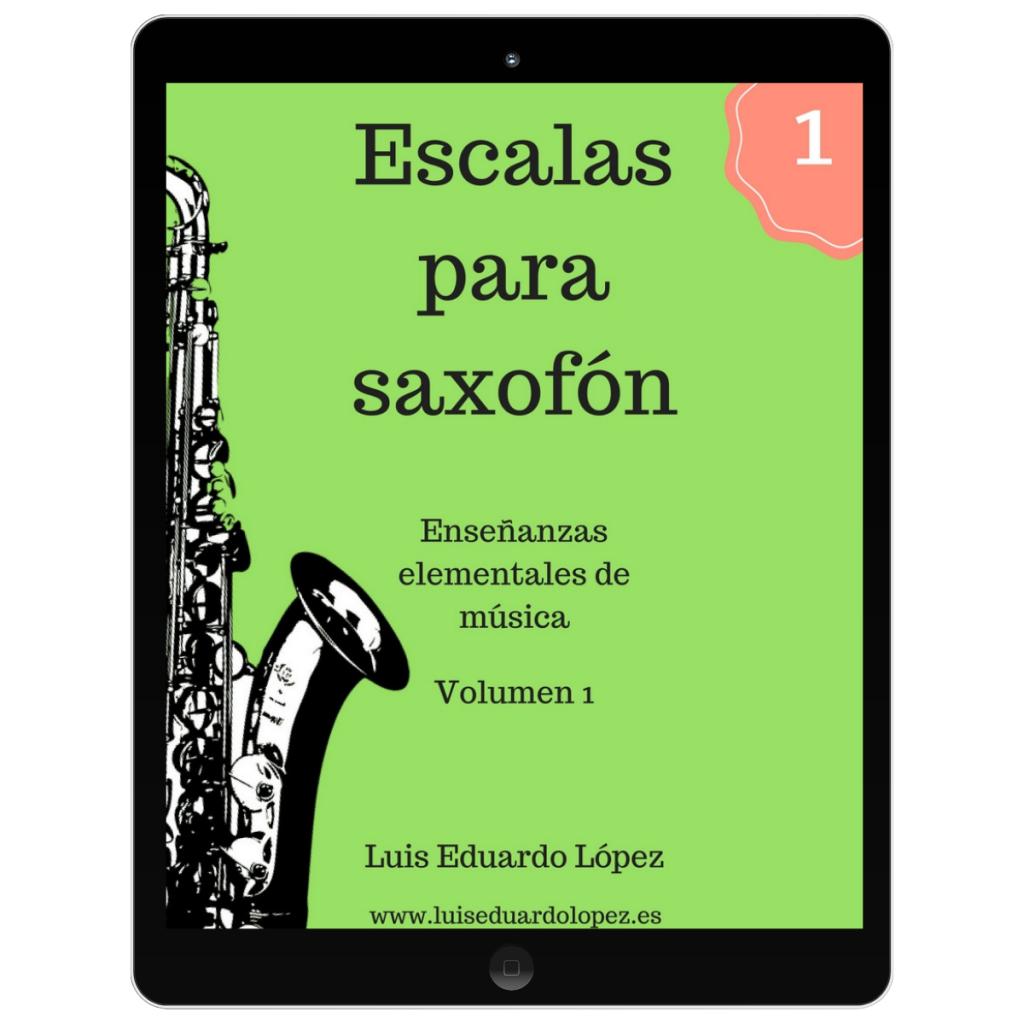 Ebook Escalas para saxofón 1