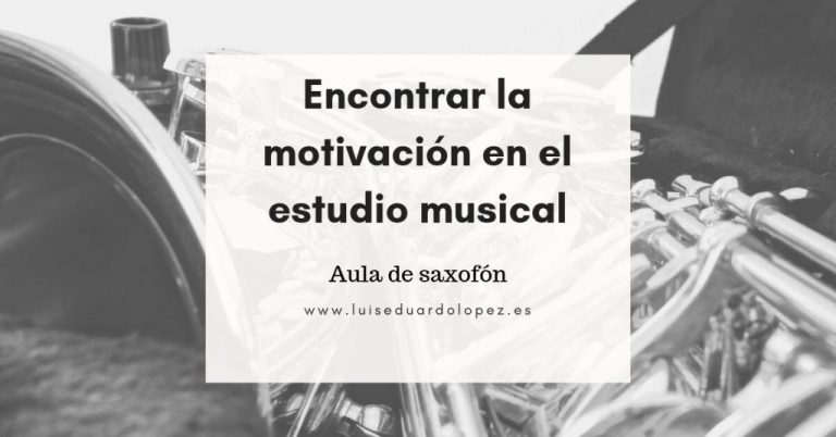 Encontrar la motivación en el estudio musical