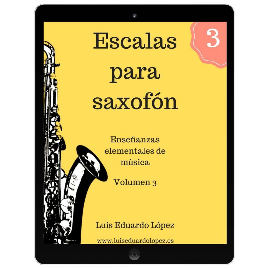 Ebook Escalas para saxofón 3
