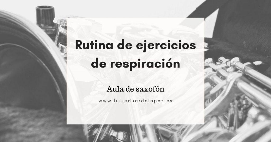 Rutina de ejercicios de respiración