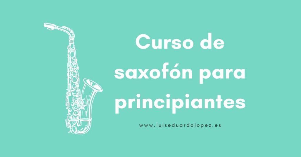 Curso de saxofón para principiantes