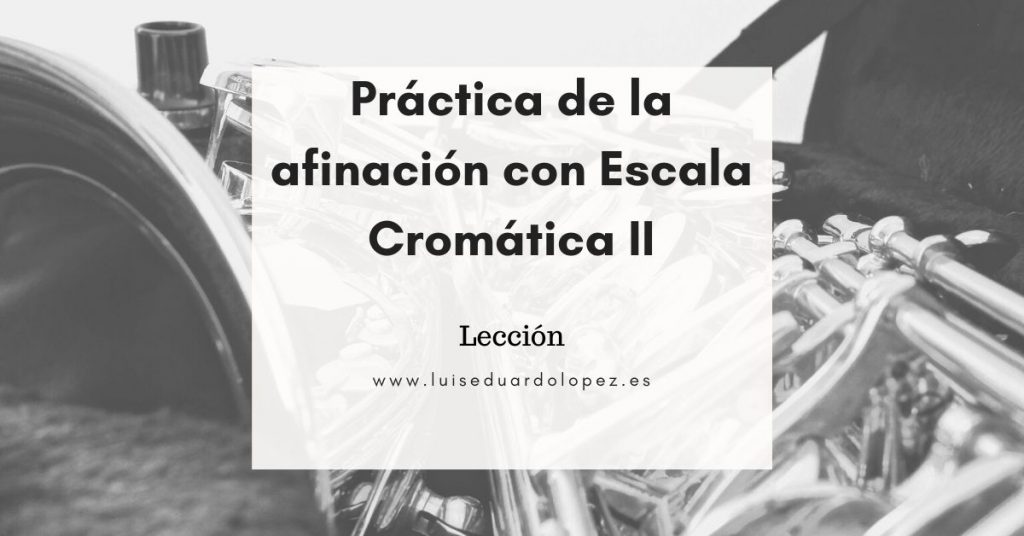Práctica de la afinación con Escala Cromática II