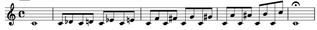 Ejercicio de intervalos cromáticos por saltos
